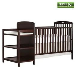 4-in-1 Changing Combo Crib, Cherry