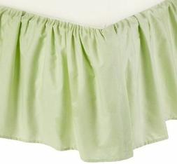 American Baby Company 100% Cotton Percale Crib Skirt Ruffle