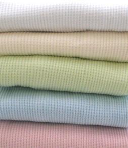 100% Cotton Waffle Weave Thermal Receiving Baby Blanket by A