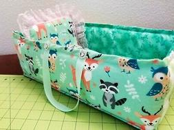 """15""""Quilt Patchwork baby doll/toy/bed-bag crib head board/lac"""