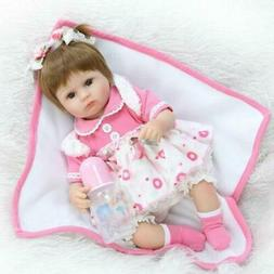 16 Inch Adorable Reborn Baby Doll Realistic Soft Silicone Re