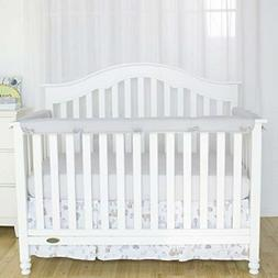 TILLYOU 3-Piece Padded Baby Crib Rail Cover Protector Set fr
