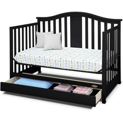 4in1 Convertible Crib with Drawer Espresso converts toddler
