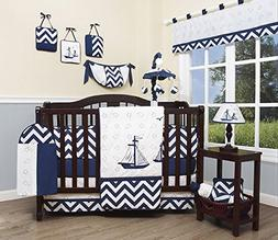 GEENNY Baby Nautical Explorer 13 Piece Nursery Crib Bedding