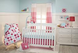 Little Bedding by NoJo 3 Piece Crib Set, Tickled Pink