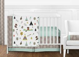 Outdoor Adventure Nature Fox Bear Animals Boys Baby Bedding