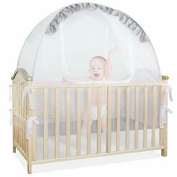 Baby Bed Crib Tent Safety Mosquito Net Pop Up Canopy Cover H