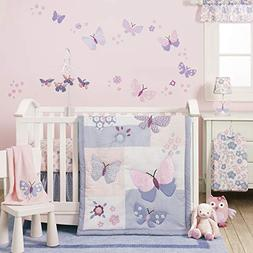 Baby Bedding Sets For Girls Nursery Crib Pink Purple Butterf