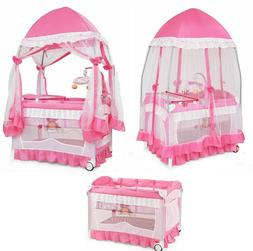 Baby Crib Bassinet Nursery Furniture Infant Portable Bed New