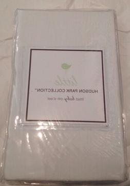 LITTLE HUDSON PARK Baby Crib Fitted Sheet White Solid Cotton