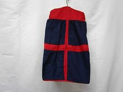 Baby Doll Bedding Solid Stripe Diaper Stacker, Navy/Red, Bab