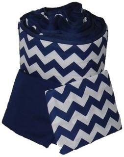 Baby Doll Bedding  Chevron Grandma Pack, Navy
