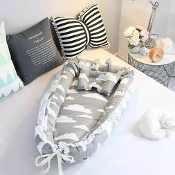 Baby Nest Bed Travel Crib Bed Infant CO Sleeping Cotton Crad