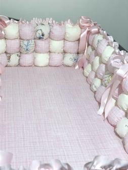 Bumbers Bedding Set for Crib BOMBON NEW for Girl Pink-beige