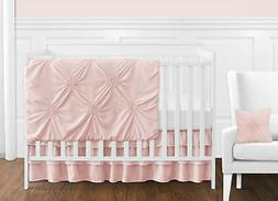 Bumperless Solid Color Blush Pink Harper Shabby Chic Baby Gi
