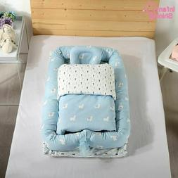 Co-Sleeping Bed Crib Portable Baby Washable Travel Bed Remov