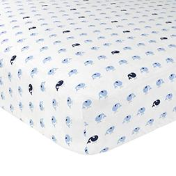 Just Born Cotton Fitted Crib Sheet, Jonah