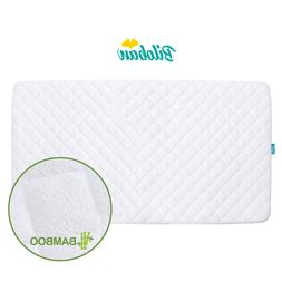 crib mattress pad soft bamboo fleece surface