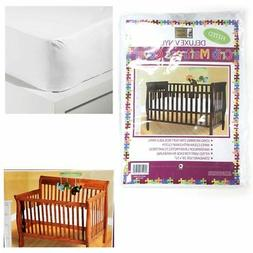Crib Size Fitted Mattress Cover Vinyl Toddler Bed Allergy Du