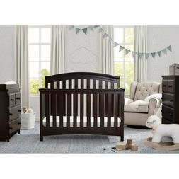 Delta Children Emerson 4-in-1 Convertible Dark Chocolate Cri