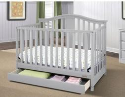 Graco Solano 4 in 1 Convertible Crib with Drawer Pebble Gray