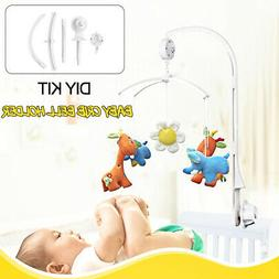 Home Baby Crib Mobile Bed Bell Toy Holder Hang Music Box Plu