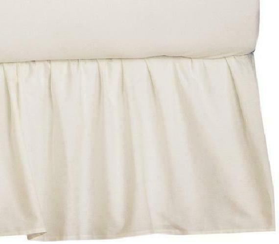 American Baby Company 100% Natural Cotton Percale Ruffled Cr
