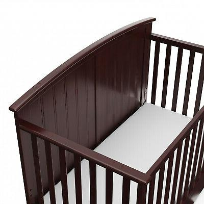 4-in-1 Convertible W/ Drawer Home Nursery Furniture