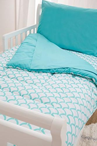 American Cotton Percale 4-piece Bedding Set, Wave, for and