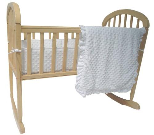 American Baby Company Heavenly Soft Minky Dot Cradle Bedding