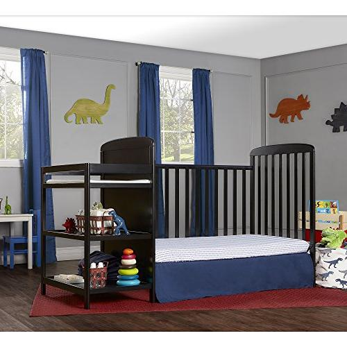 Dream On Me, 4 in Size Crib and Table