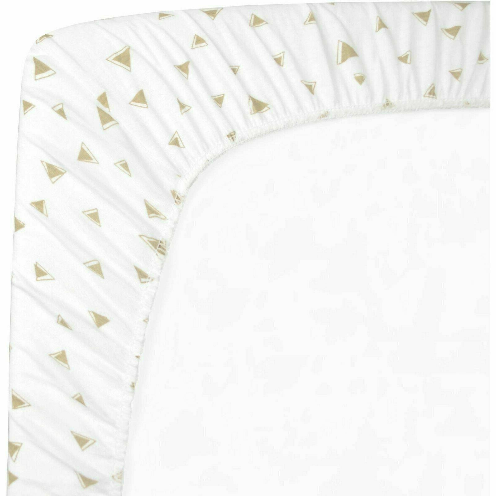 American Co Cotton Jersey Fitted Portable/Mini Crib Sheet Taupe