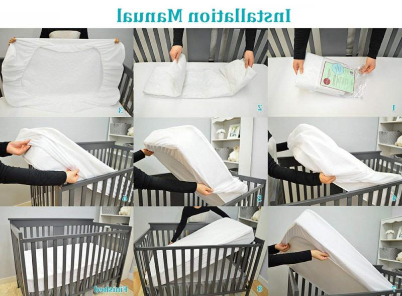 American Waterproof Fitted Crib and Protective Mattress