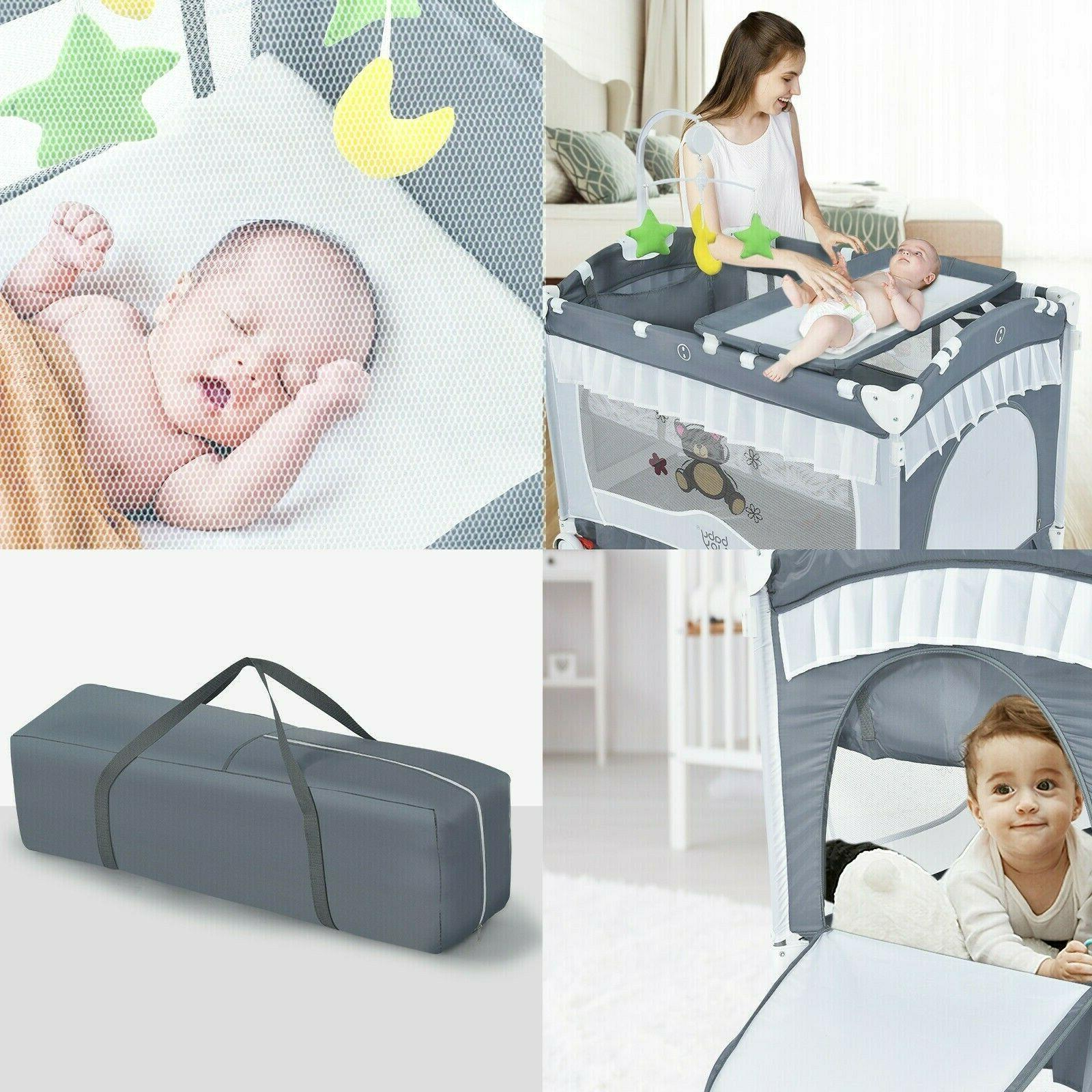 Baby Infant Crib Foldable Portable