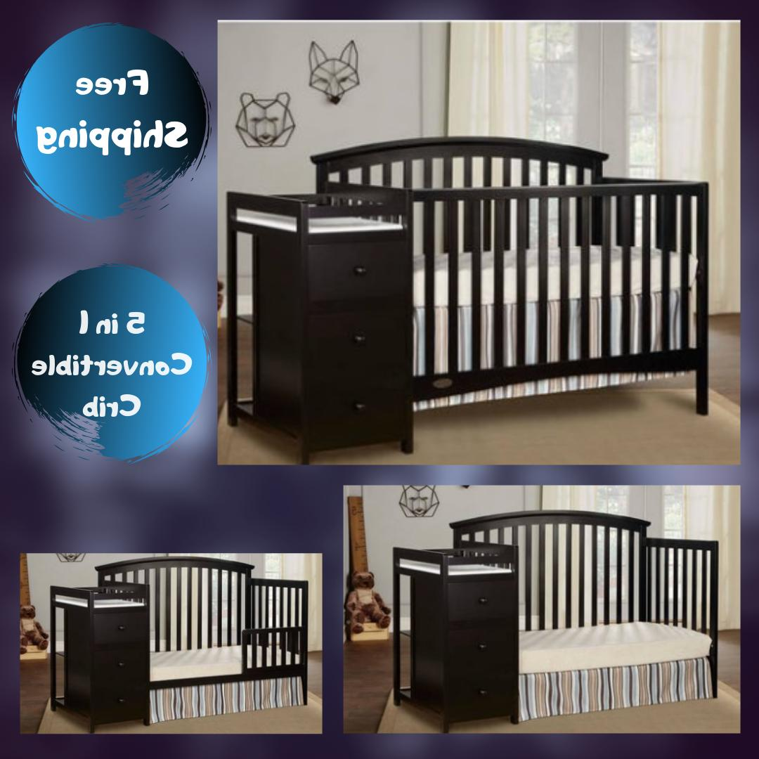 Baby Crib With Changing Table Dresser Toddler Bed Daybed Ful