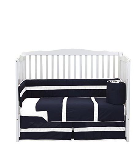 baby doll solid stripe crib