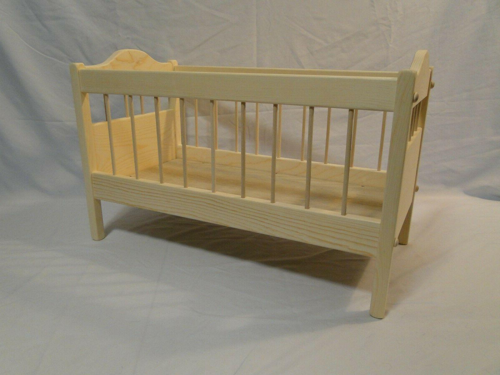 Crib for baby doll 18 inch Bitty Baby American Girl and smal