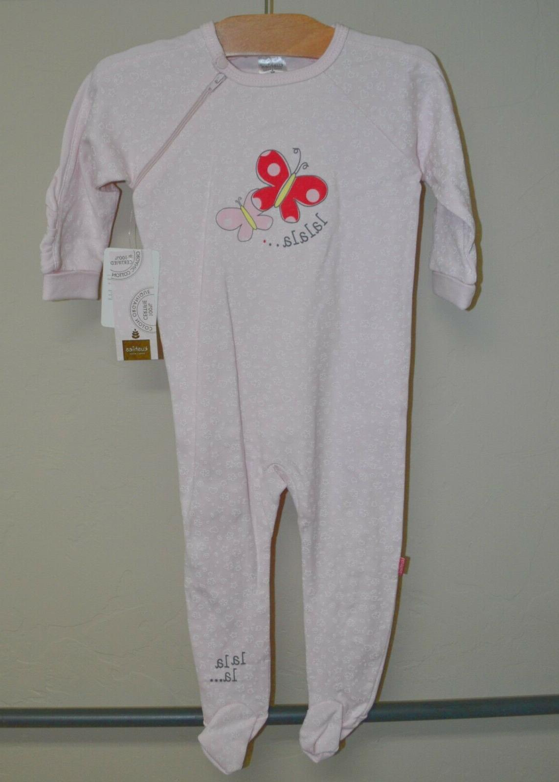 baby girl pink butterfly organic cotton side