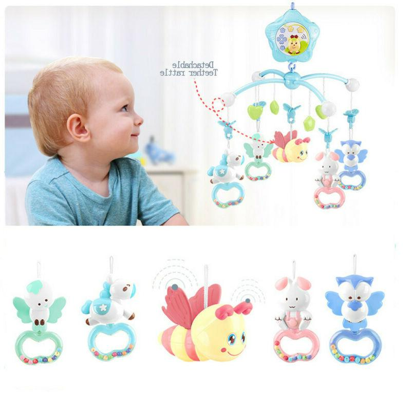 Baby Crib Mobile with Lights and Music Remote Toy for Pack and Play Newborn gift