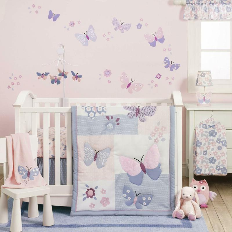 Bedtime Butterfly Meadow Bedding Set, 3 Piece Quilt, Fitted