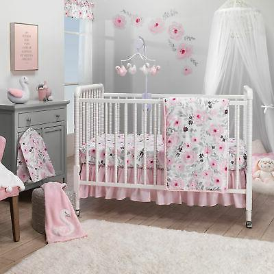 blossom pink watercolor floral 3 piece baby