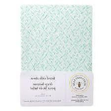 Burt's Bees Baby Organic Cotton Fitted Jersey Crib Sheet Lea