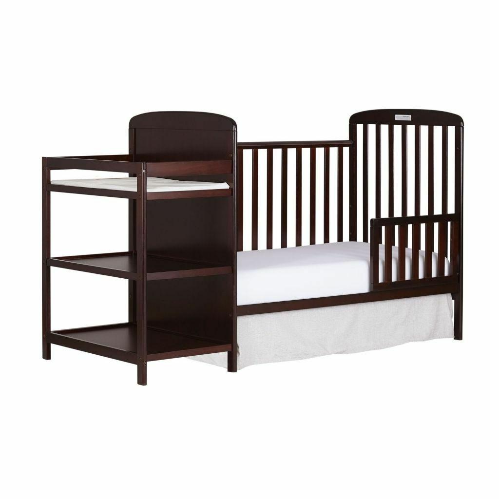 4-in-1 Baby and Changing Table Full Cherry
