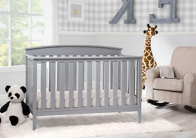 Adjustable Baby Crib in Sold Wood Convert to BED Colors