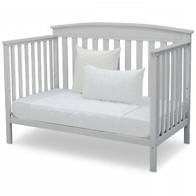 Adjustable Baby Crib in 1 Wood Toddler BED