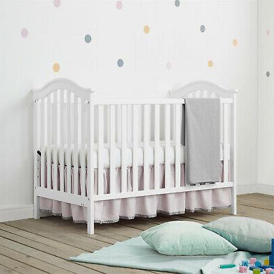Convertible Sturdy White Color Nursery