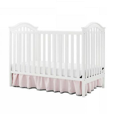 Convertible Crib/ Sturdy White Color Baby