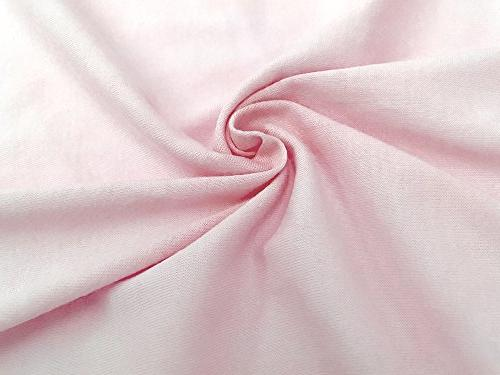 American Baby Pack 100% Jersey Knit Sheet,Pink, Soft Breathable, for Girls