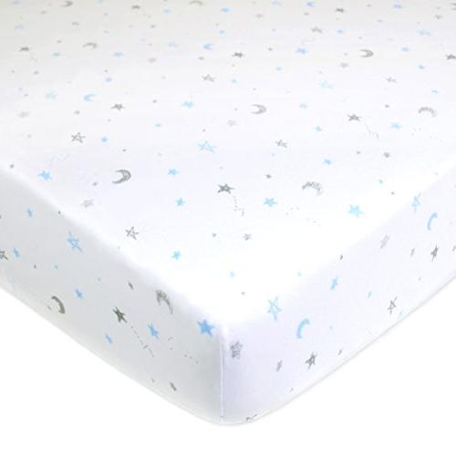 American Baby Company 100% Cotton Jersey Fitted Crib Standard Crib Mattresses, Boys and