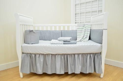 American Baby Company Natural Percale Crib for Standard Crib and Toddler Gray Breathable, for